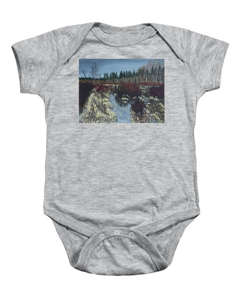 Winter River Baby Onesie