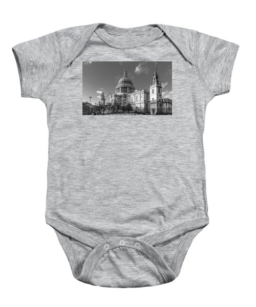 Winter Sun St Paul's Cathedral Bw Baby Onesie