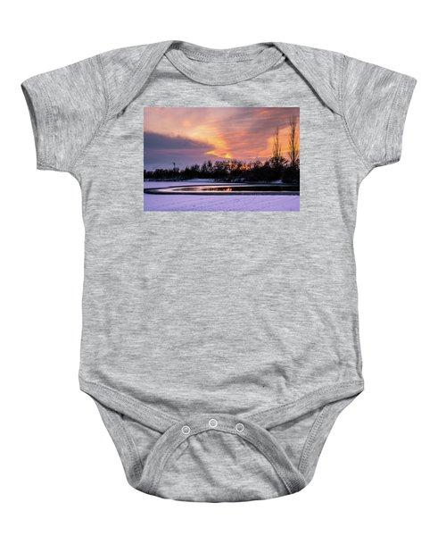 Winter Sunset Baby Onesie