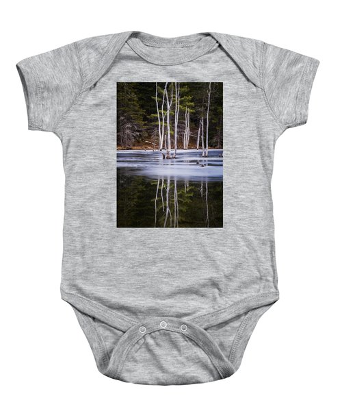 Winter Thaw Relections Baby Onesie
