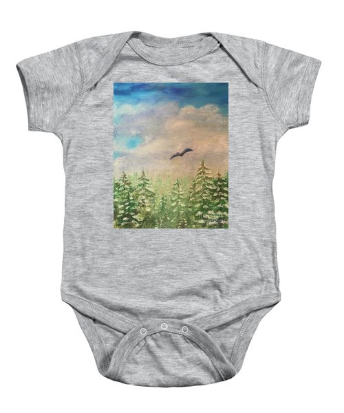 Winter To Spring Baby Onesie