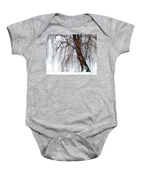 Winter Willow Baby Onesie