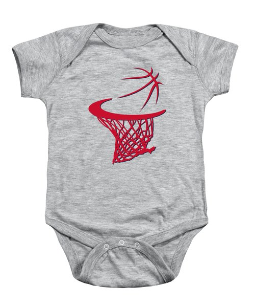 Wizards Basketball Hoop Baby Onesie by Joe Hamilton