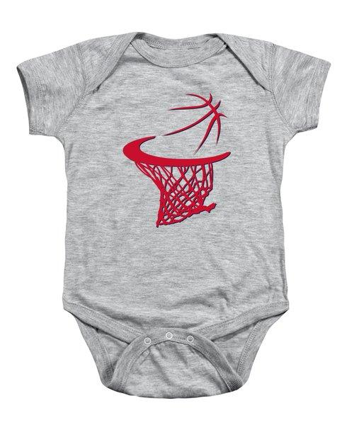 Wizards Basketball Hoop Baby Onesie