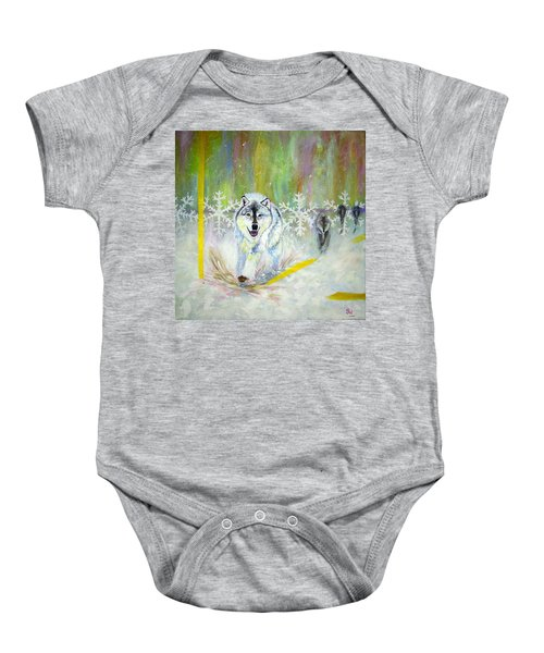 Wolves Approach Baby Onesie
