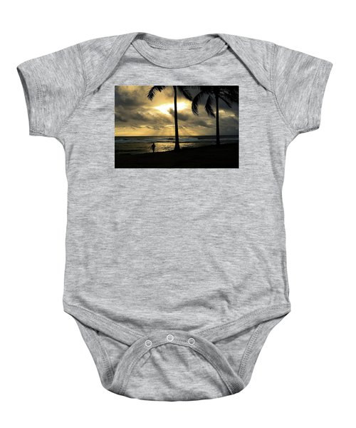 Woman In The Sunset  Baby Onesie