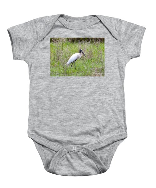 Wood Stork In The Marsh Baby Onesie