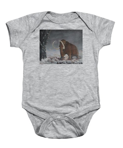Wooly Mammoth......10,000 Years Ago Baby Onesie