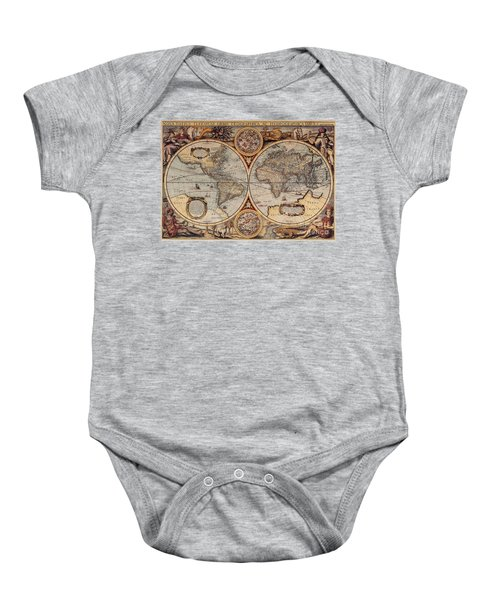 World Map 1636 Baby Onesie