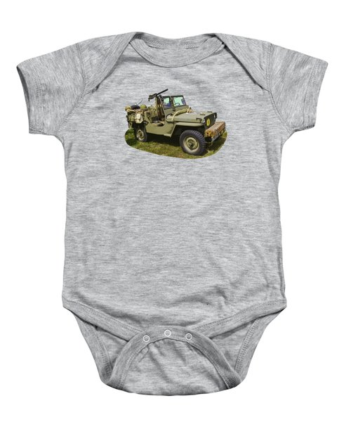 World War Two - Willys - Army Jeep  Baby Onesie