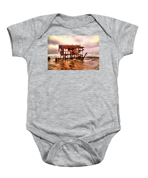 Wreck Of The Peter Iredale  Baby Onesie