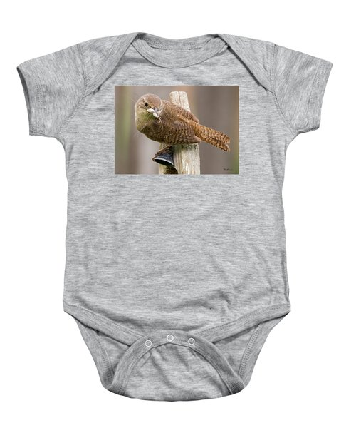 Wren Ringing The Dinner Bell Baby Onesie