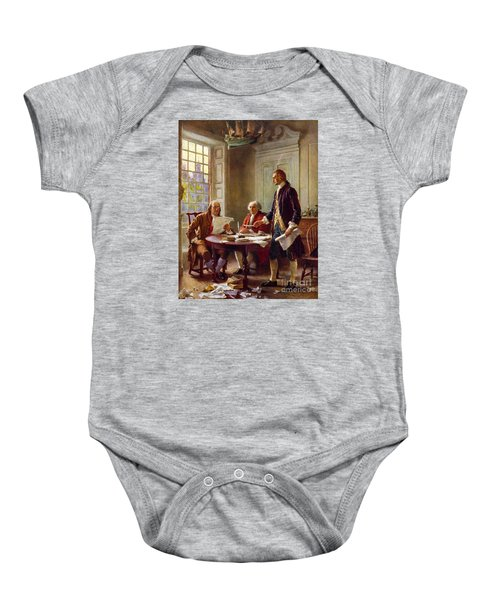 Writing The Declaration Of Independence, 1776, Baby Onesie