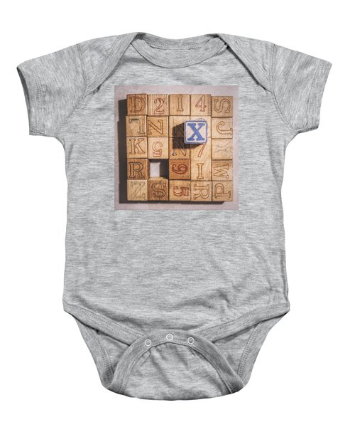 X Blocks Baby Onesie