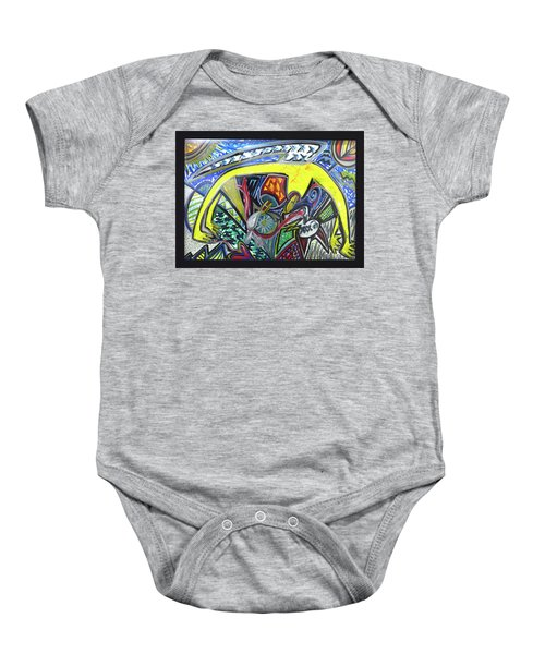 Xxxkull Patterns II Baby Onesie