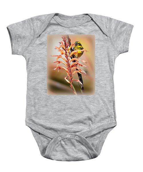 Yellow Bird Hi Baby Onesie