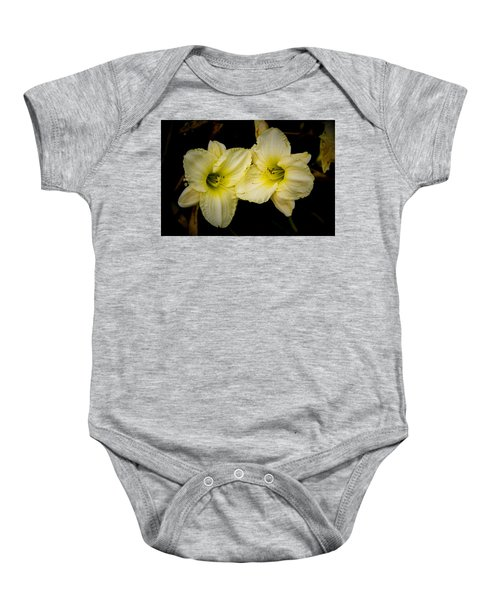 Yellow Day Lilies Baby Onesie