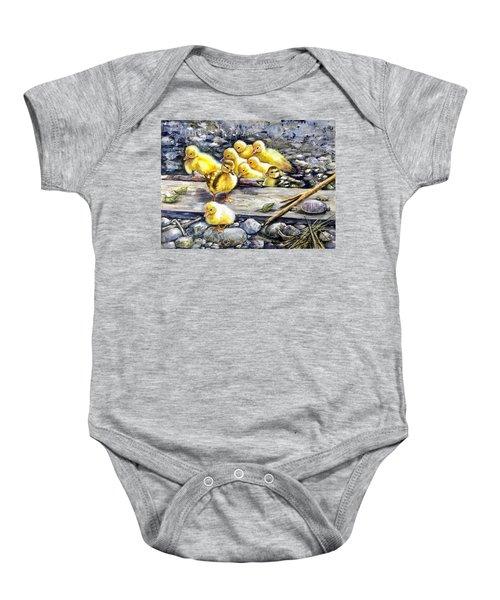 Yellow Happiness Baby Onesie