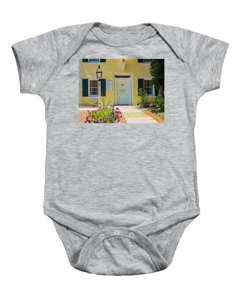 Yellow House In Kingston Baby Onesie