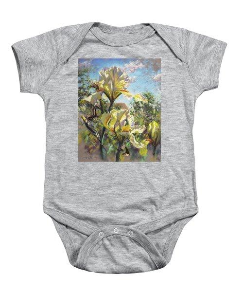 Yellow Iris Baby Onesie