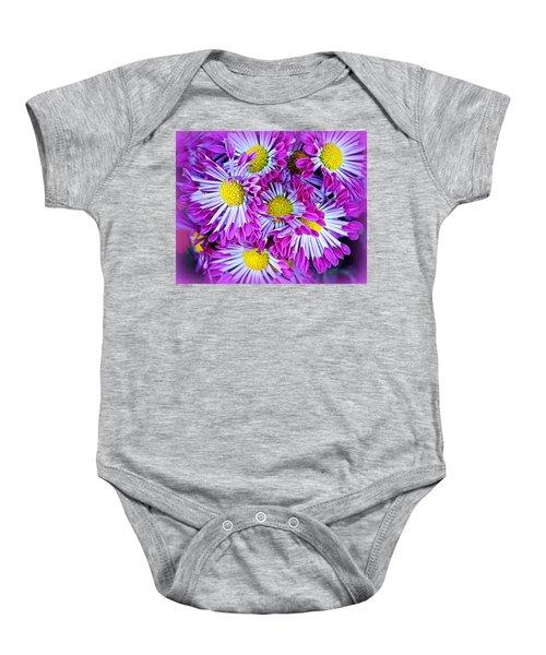 Yellow Purple And White Baby Onesie