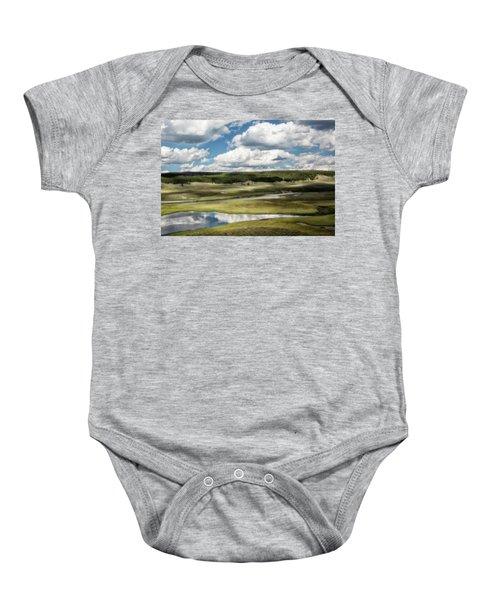 Yellowstone Hayden Valley National Park Wall Decor Baby Onesie