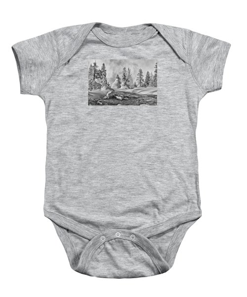 Yellowstone In Winter Baby Onesie by Gary Lengyel