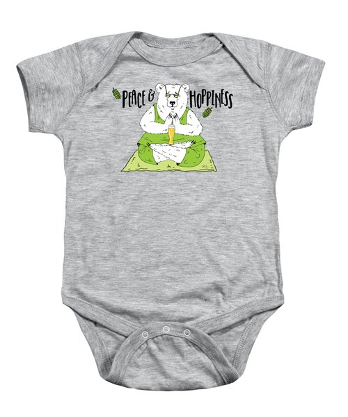 Yoga Beer Bear Baby Onesie