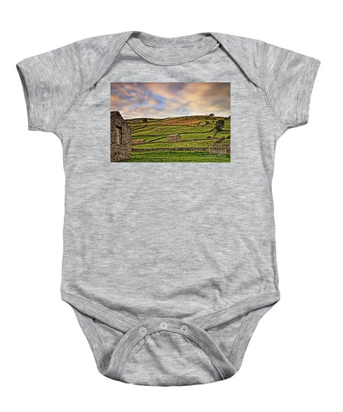 Yorkshire Dales Stone Barns And Walls Baby Onesie