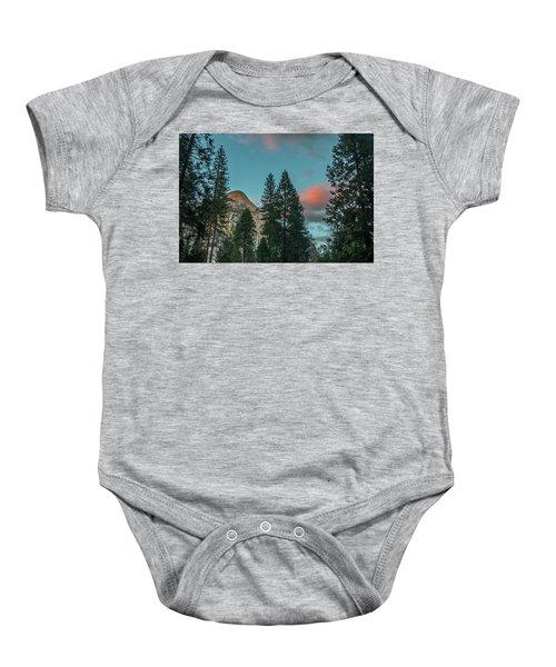 Yosemite Campside Evening Baby Onesie