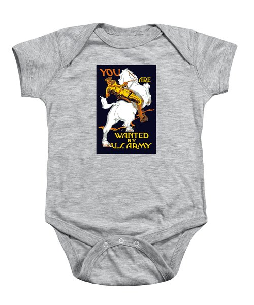 You Are Wanted By Us Army Baby Onesie
