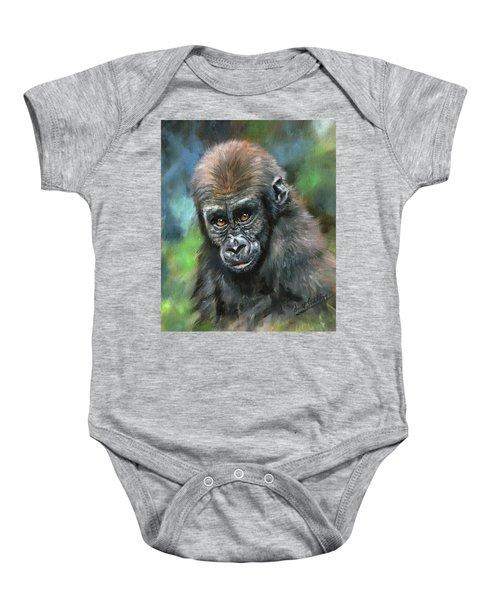 Young Gorilla Baby Onesie