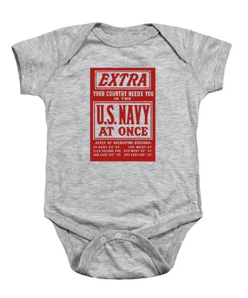 Your Country Needs You In The Us Navy Baby Onesie
