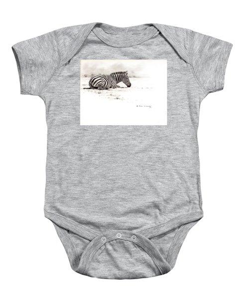 Zebra Sketch Baby Onesie