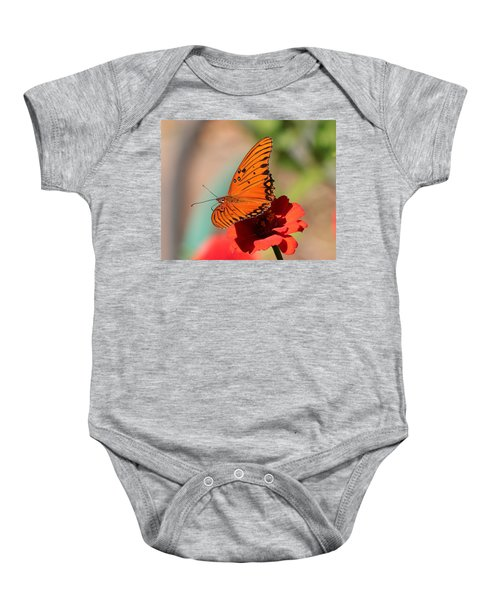 Zinnia With Butterfly 2669 Baby Onesie