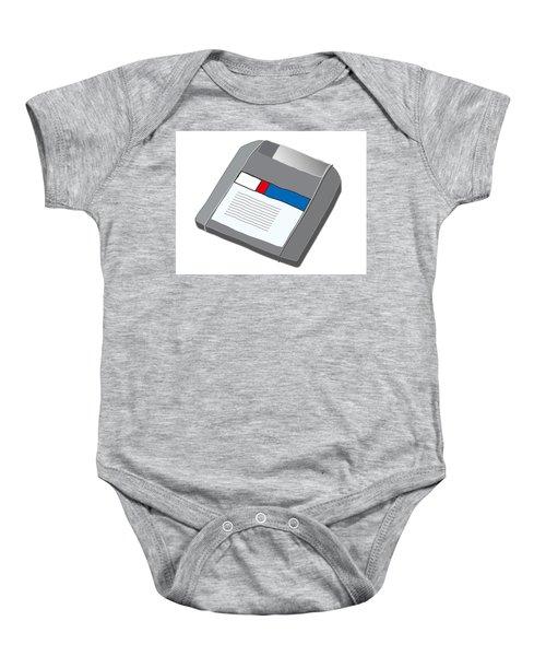 Zip Disk Baby Onesie