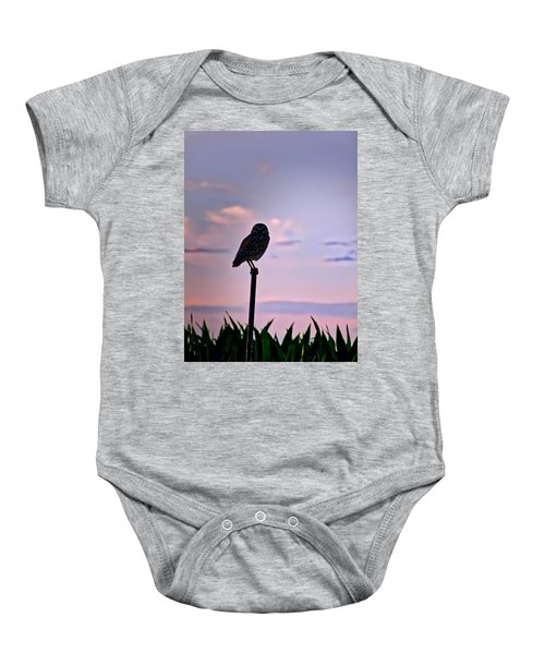 Burrowing Owl On A Stick Baby Onesie
