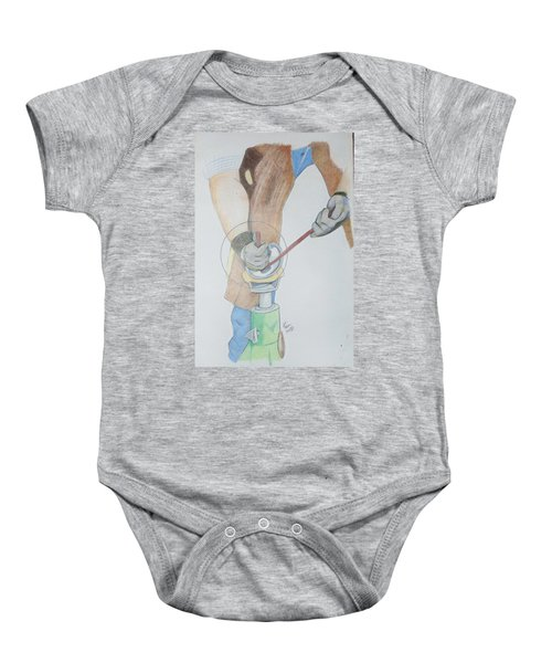 Clipping Hooves Baby Onesie
