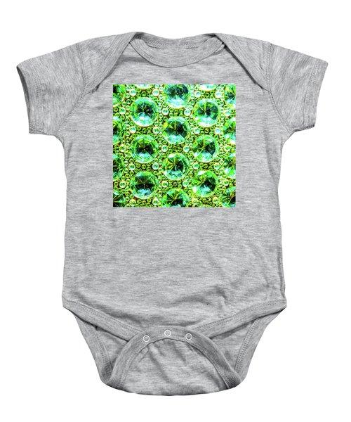 Cut Glass Beads 2 Baby Onesie