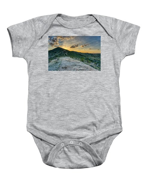 Dramatic Mountain Sunset  Baby Onesie