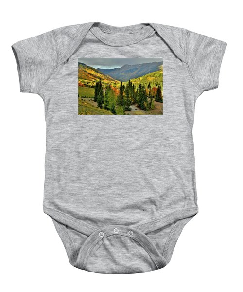 Looking North From Red Mountain Pass Baby Onesie