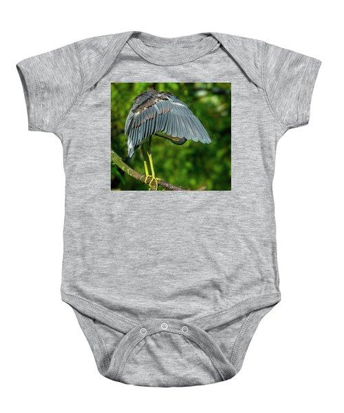 Preening Reddish Heron Baby Onesie