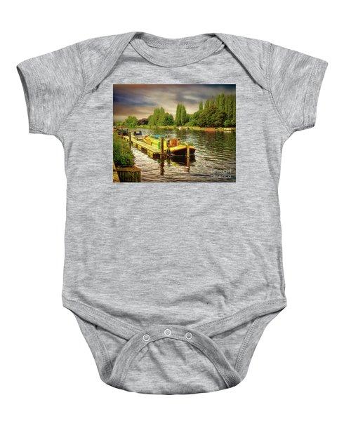 River Work Baby Onesie