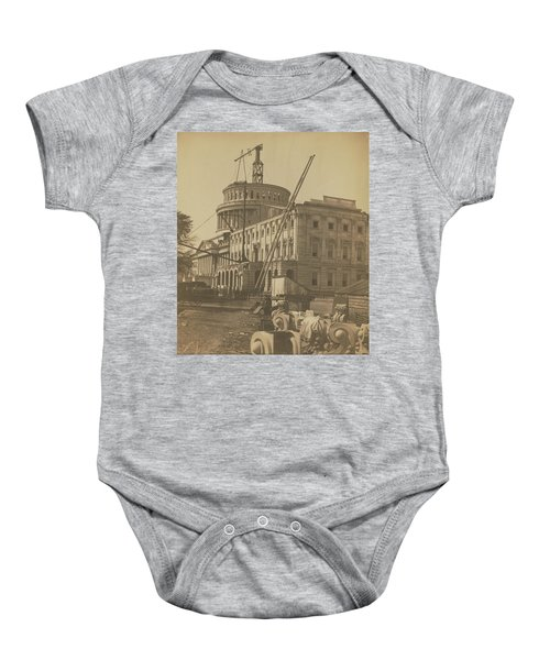 United States Capitol Under Construction Baby Onesie