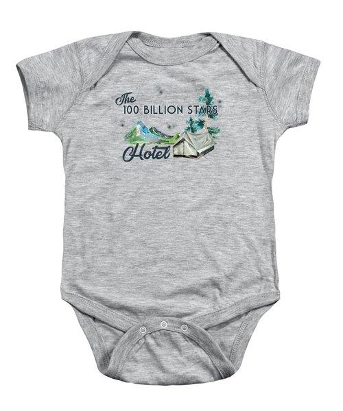 100 Billion Stars Hotel Baby Onesie