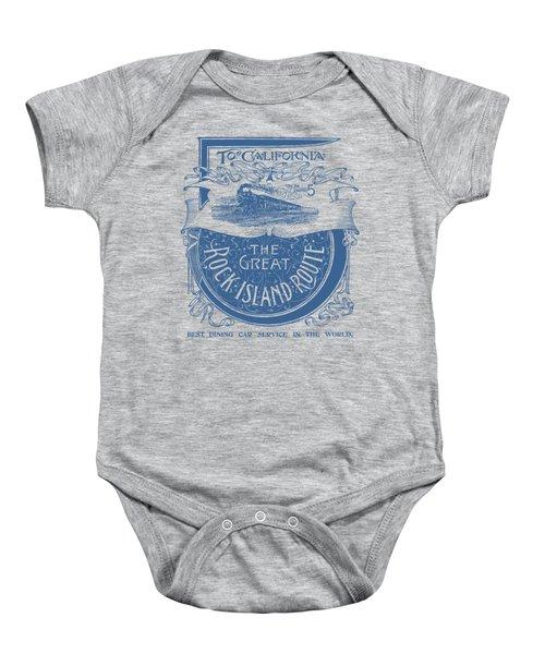 1893 Rock Island Railroad To California Baby Onesie