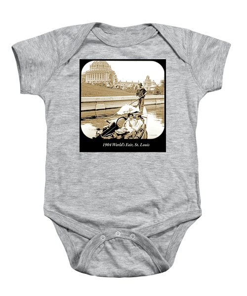 1904 Worlds Fair, Sighteeing Boat, Oarsman And Couple Baby Onesie