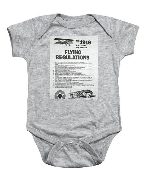 1919 Flying Regulations Poster Baby Onesie
