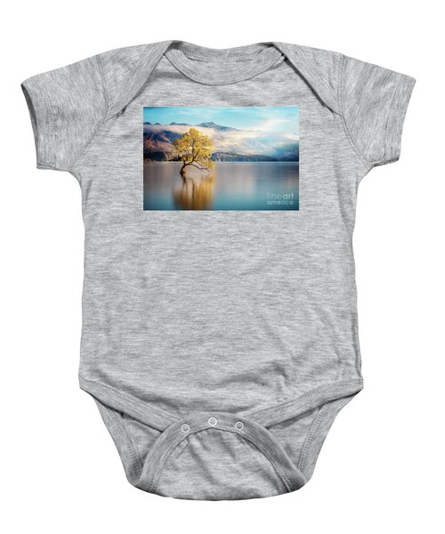 Alone And Determined Baby Onesie