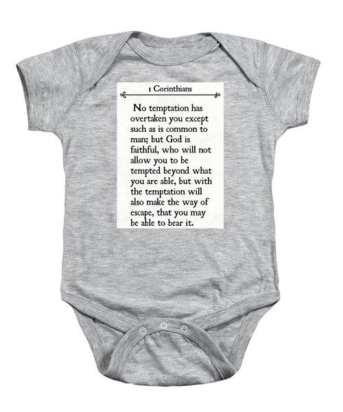 1 Corinthians 10 13- Inspirational Quotes Wall Art Collection Baby Onesie